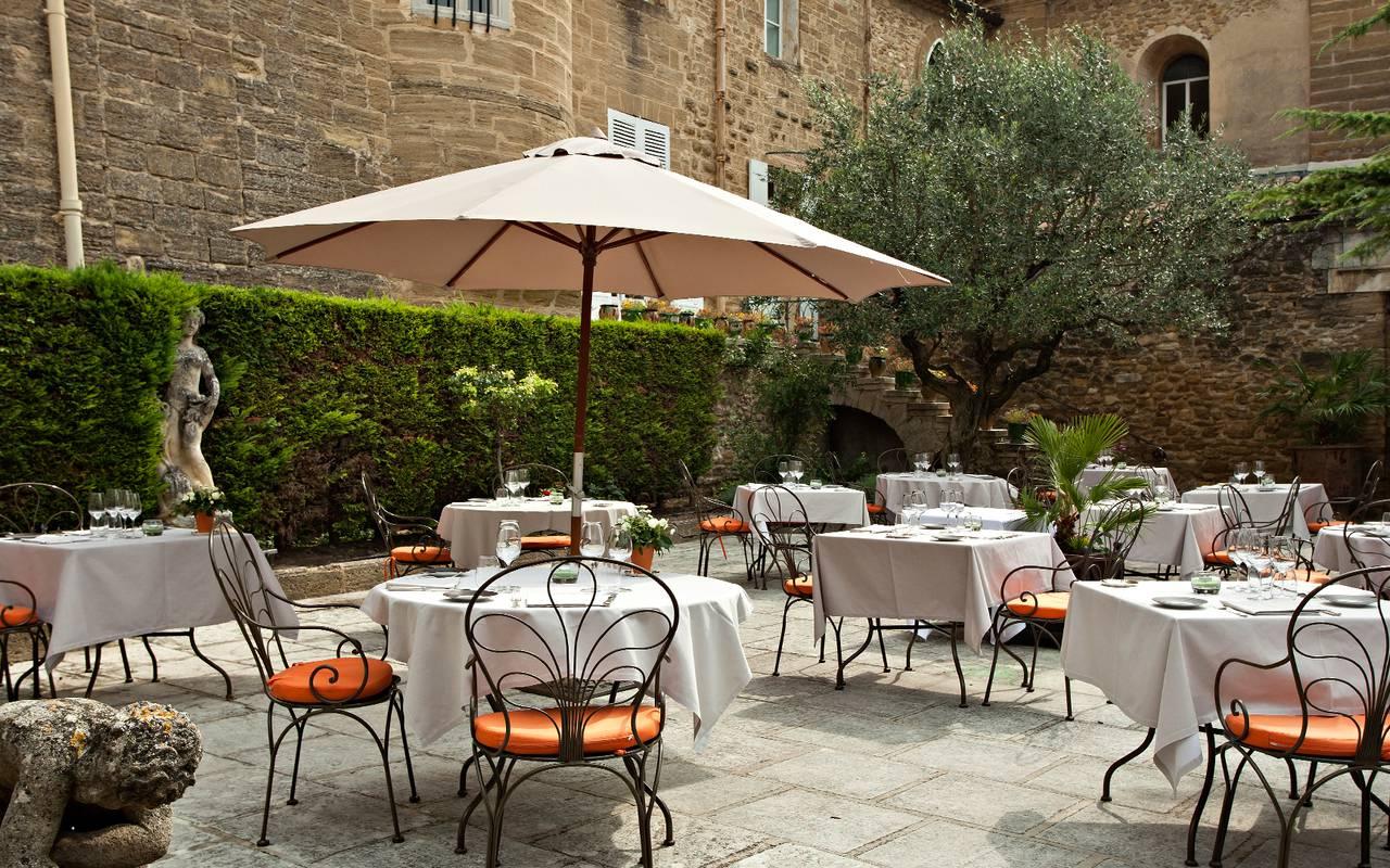 restaurant gastronomique en provence - Table de Rochegude